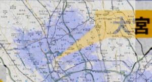 UQ WiMAX さいたま市あたりのエリア2009年7月予定