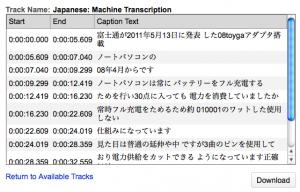 日本語認識結果